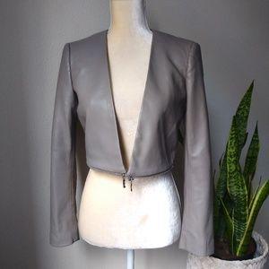 ZARA vegan leather Crop Jacket XS